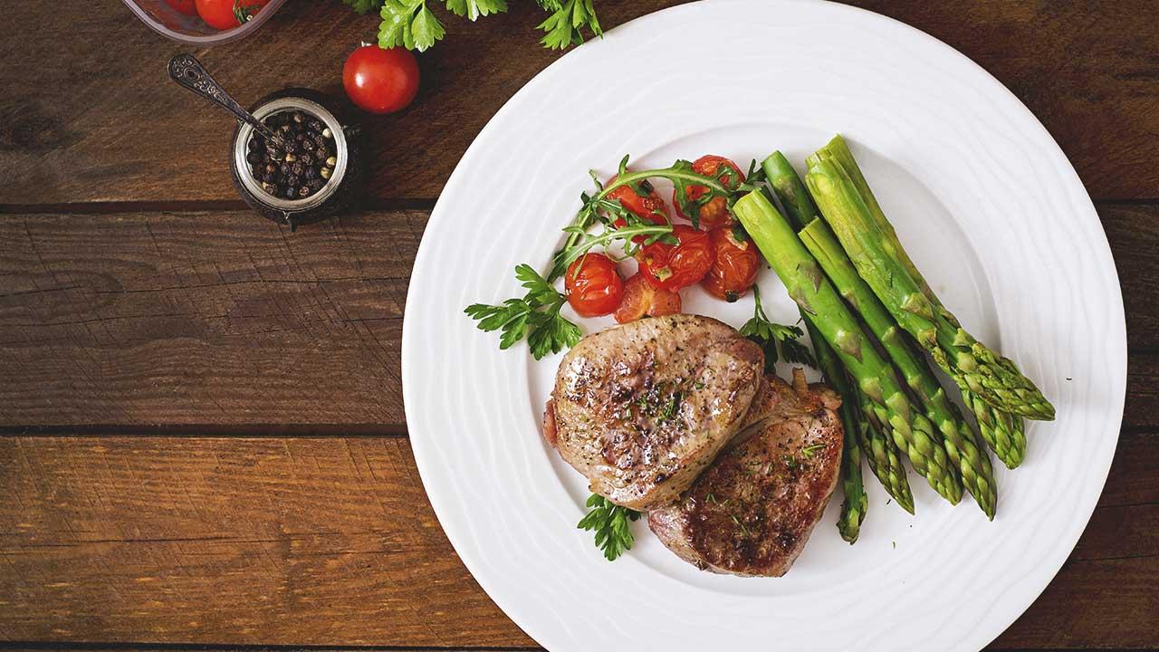 plate of paleo diet foods
