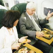Airline food can be a nutritious hole