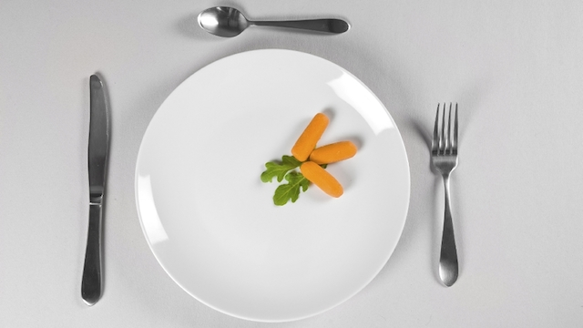 Small amount of food on plate