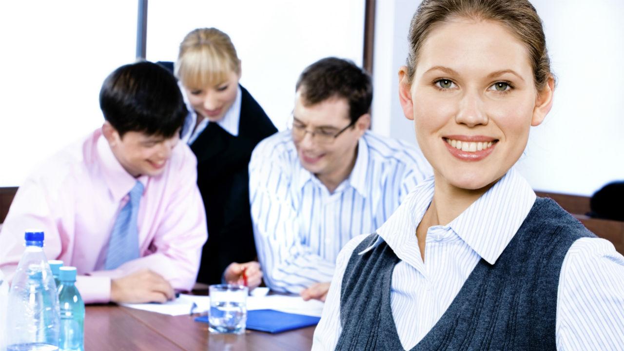 business women at work