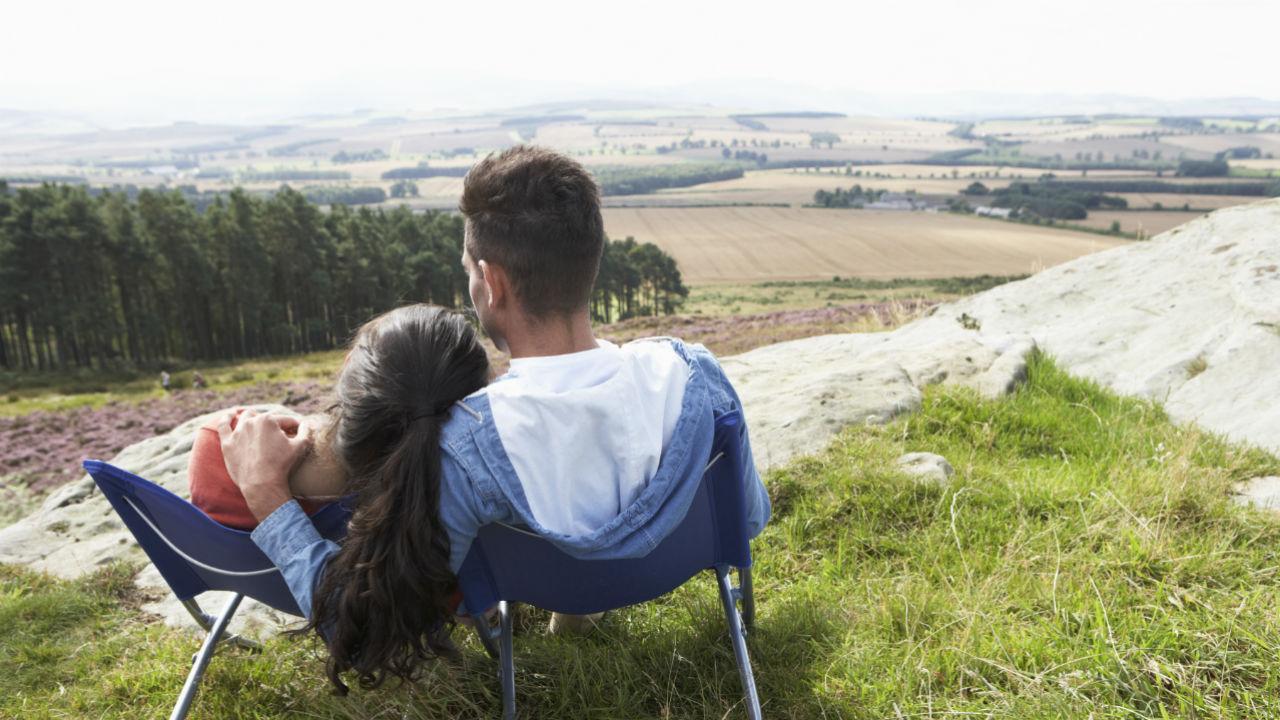 couple enjoying scenery