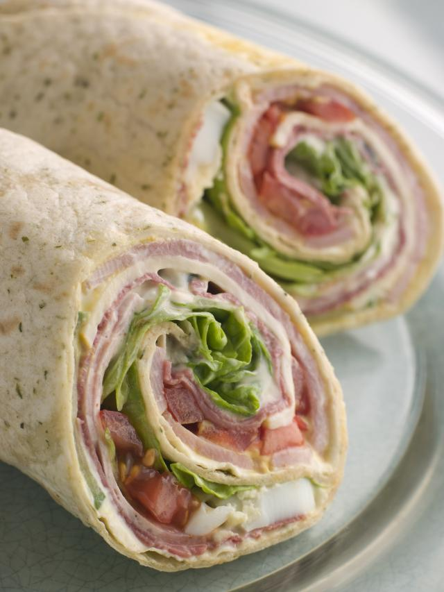 sweet and savory turkey wraps
