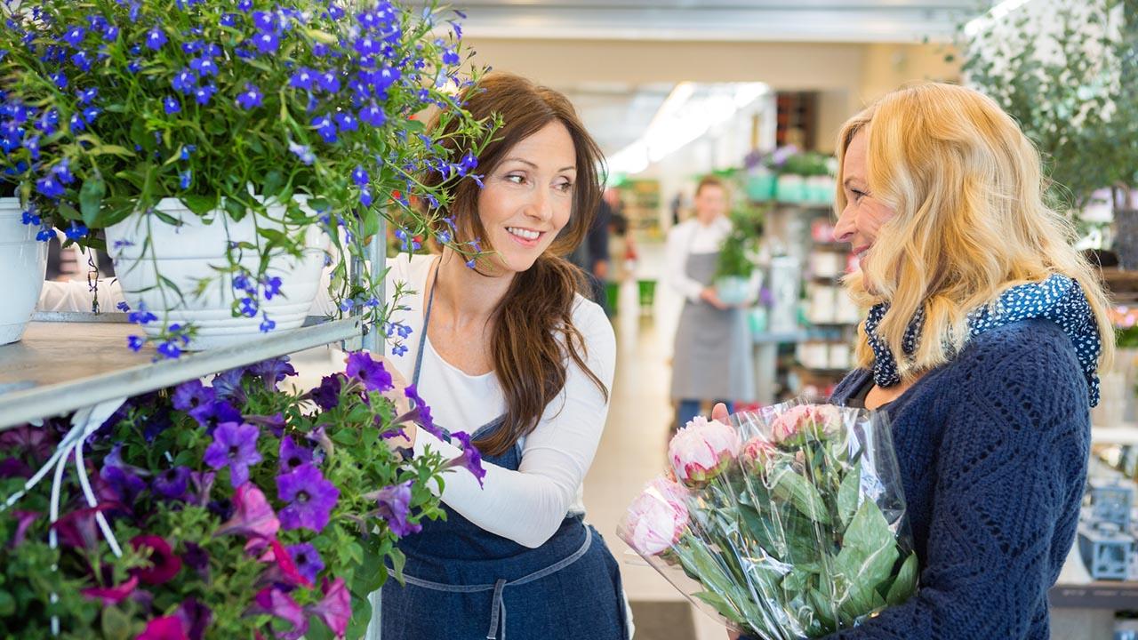 Women in a flower shop