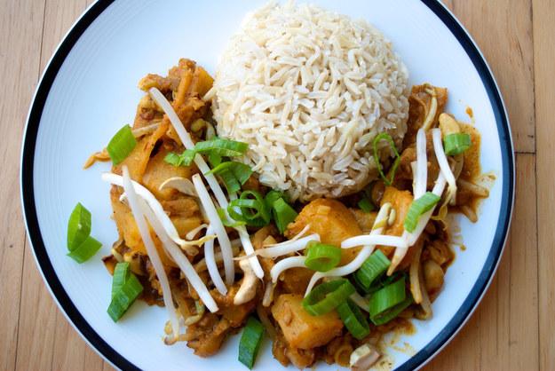 Seitan Penang Curry