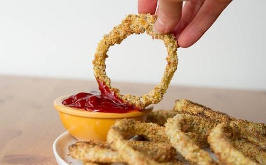 Vegan Baked Crispy Onion Rings