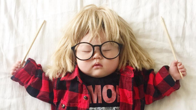 This Creative Mom Dresses Up Her Baby While She Naps and We're Obsessed