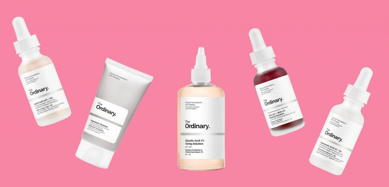 The Best Ordinary Products based on Skin Concern