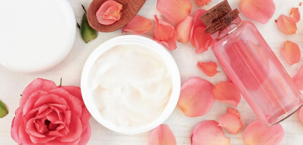 Rose-infused skincare