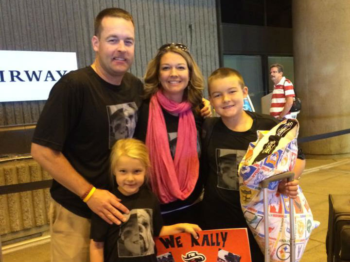 carroll family at airport