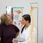 chiropractor easing pain from sciatica