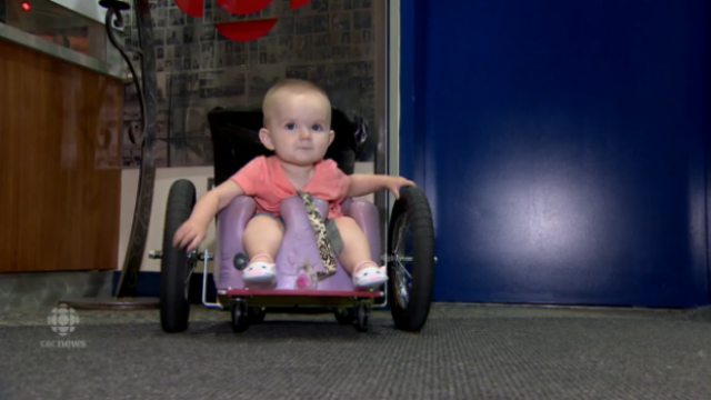 Parents Turn to Pinterest to Make DIY Wheelchair for Paralyzed Daughter