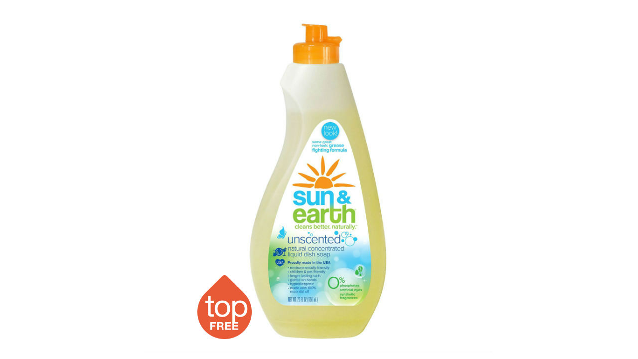sun and earth liquid dish soap