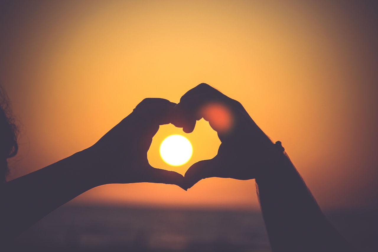 Couple Heart Around The Sun