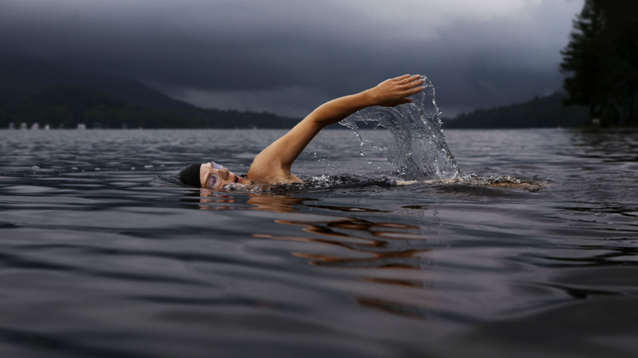 swimmer breathing