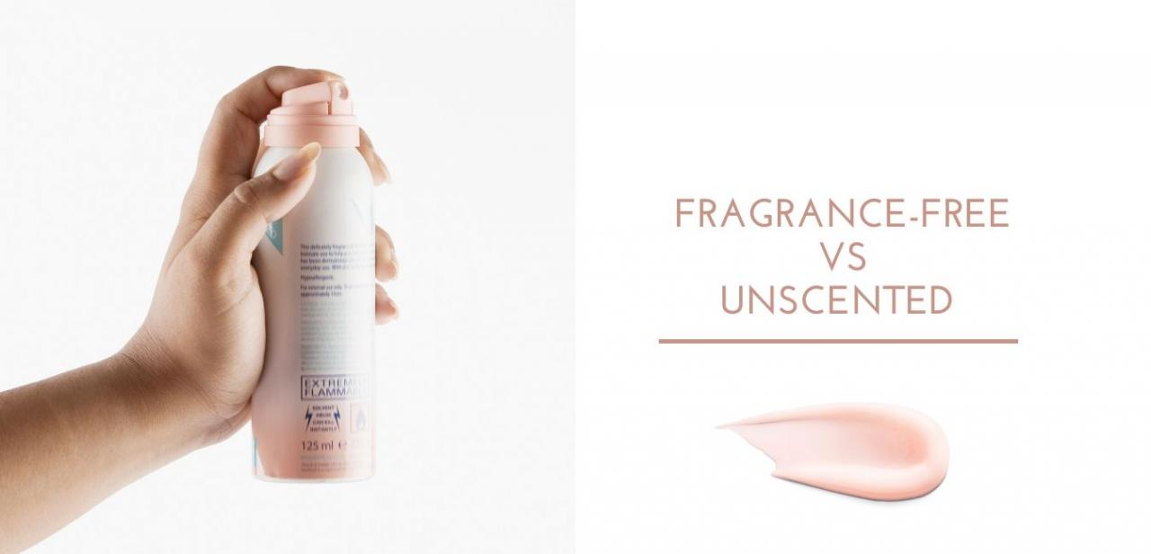 Fragrance-free vs Unscented