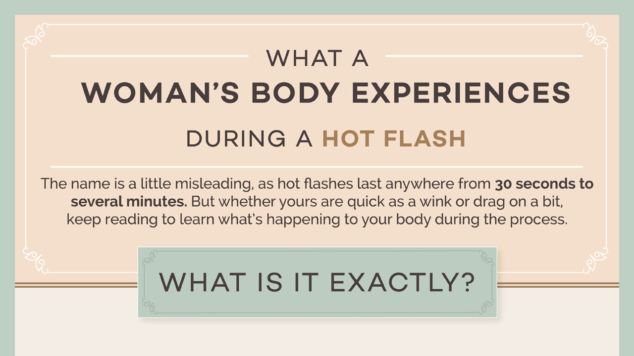 Infographic: What Does a Woman's Body Experience During a Hot Flash?