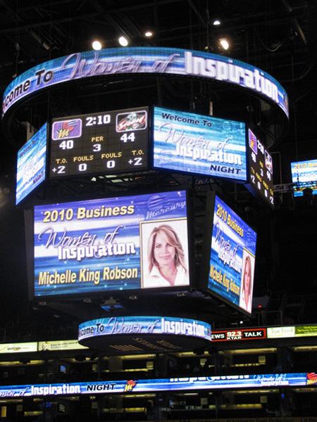Michelle King Robson receiving Inspiring Business Woman Award